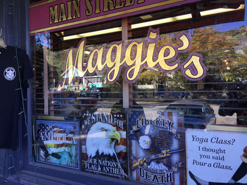 Maggie's Diner is actually a gift shop for bikers. They do not serve food at all.