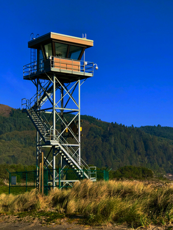 The Coast Guard observation tower at Barview Jetty Parkz
