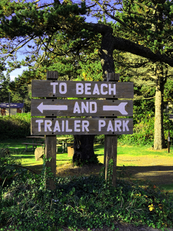 Interior sign, Barview Jetty Park.