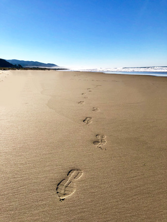 Beach walking will benefit you on many levels.