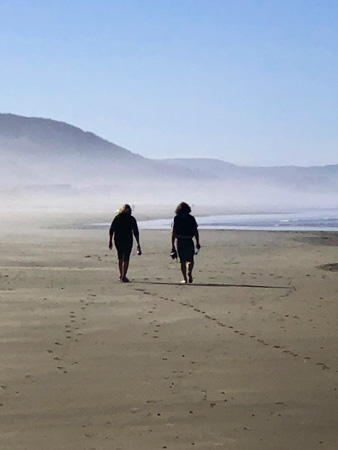 Talking as you walk the beach can help you solve vexing problems.