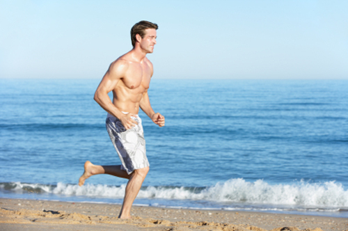 Sprinting on a cushioned surface is one of the benefits of the beach,