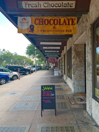 A chocolate and expresso bar. You can find all kinds of unique little shops in downtown St Pete.