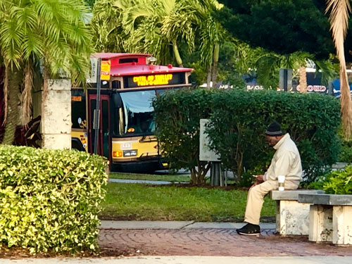 Some people just like to be alone with their thoughts on Christmas morning in St Pete.