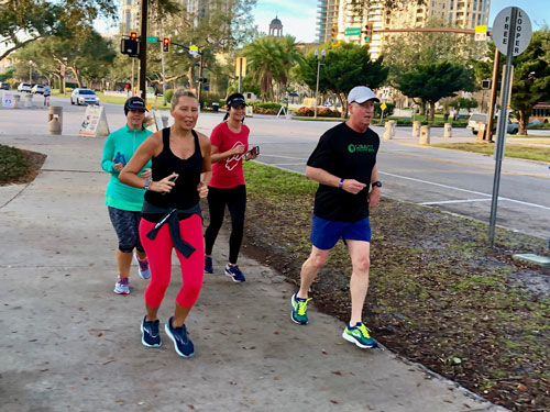 Group run. Christmas morning in St Pete FL.