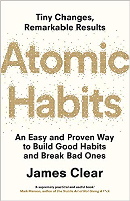 Atomic Habits is the great book by James Clear that promotes a 1 percent improvement for men each day.