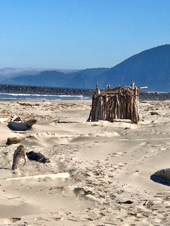 Rockaway Beach Oregon is made for nice walks on the beach.