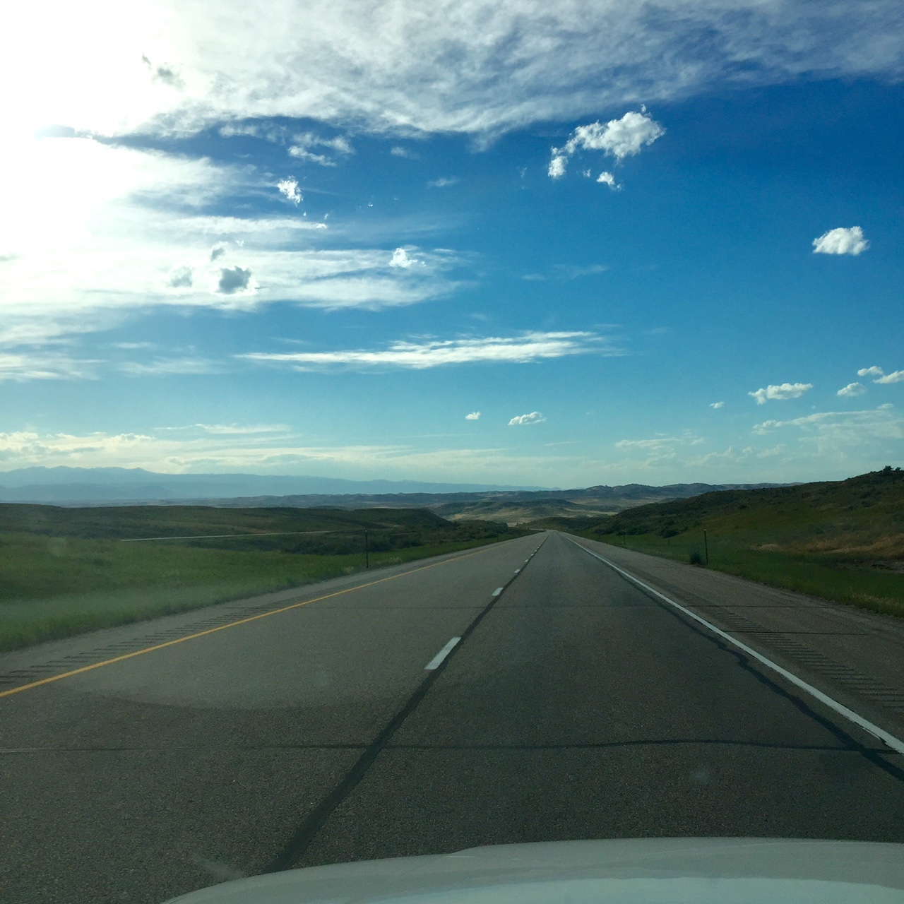 The Buffalo WY exit is now less than a mile away. It was a beautiful evening to stop.