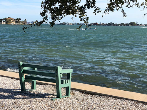 Looking out over a choppy Boca Ciega Bay from Fred Held Park.