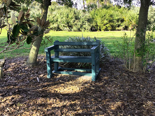 Fred Held South Pasadena Habitat has several benches in shaded areas to help renew your spirit.