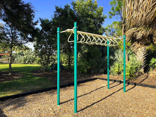 Fred Held Park has a great variety of fitness modalities. You can get a great body-weight workout.