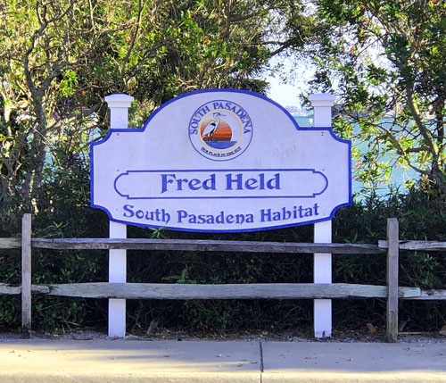 Fred Held Park, South Pasadena FL.