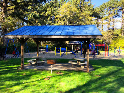 There is a nice playground in Manzanita City Park.