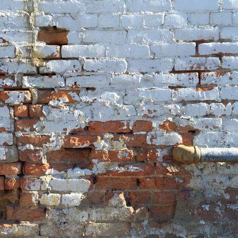 A vintage-looking wall in downtown Bozeman Montana.