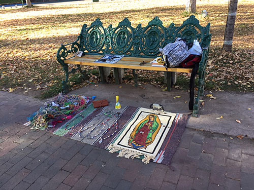 Once it gets past about 8:00am, people start setting up small areas to sell homemade wares.