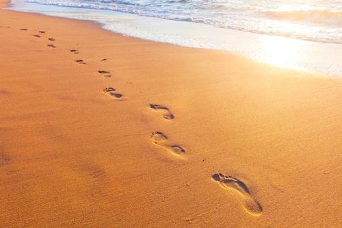 Beach walking enhances your spiritual renewal.