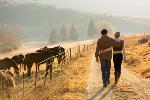 Walking with someone you love increases your feeling of connection with Nature, and each other.