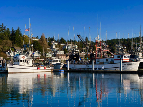 Newport Harbor, on Yaquina Bay, is a scenic place to revitalize your spirit.