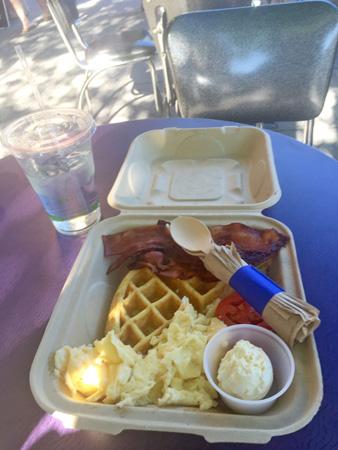 The Early Bird Special breakfast at Nova Cafe on Main Street in Bozeman Montana.