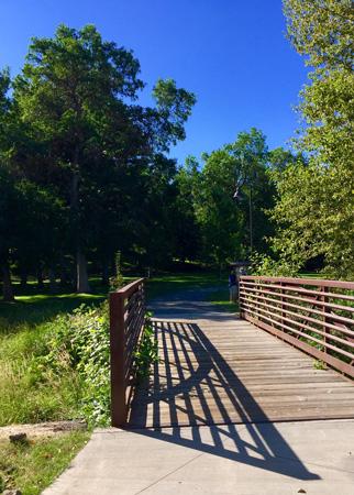 Entering Lindley Park. It is beautiful.