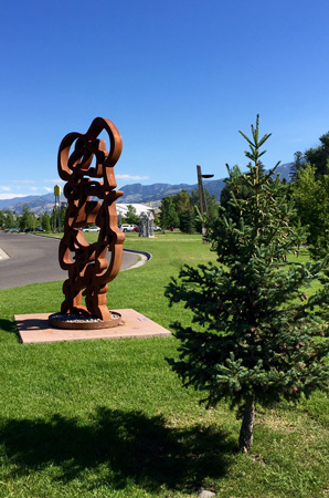 Bozeman Sculpture Park. Located right behind the library.