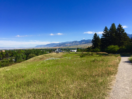 A beautiful view of the Bridger Range from Peet's Hill in Bozeman Montana.
