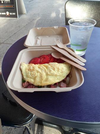 Breakfast at Nova Cafe in downtown Bozeman MT.
