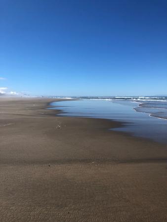 Looking South Rockaway Beach Oregon Coast.