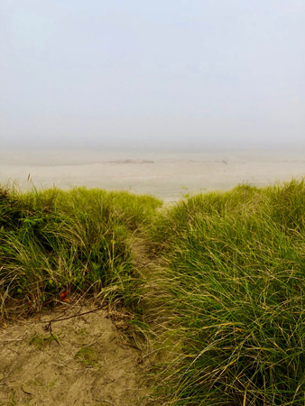 A foggy day on Rockaway Beach Oregon is a peaceful way to refresh your spirit.