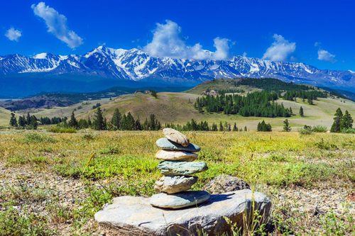 Stacking stones in mountain wilderness areas demonstrate a sense of reverence for connecting with Nature and the Universe.
