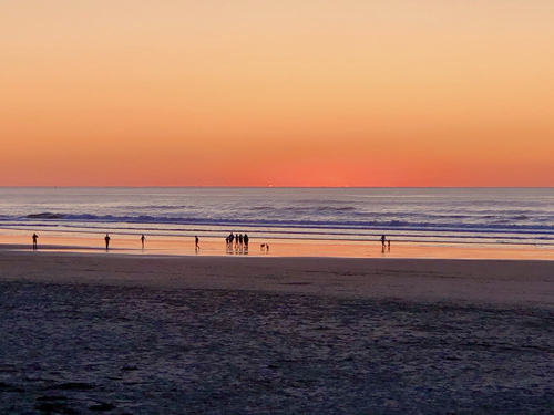 Sunset on Thanksgiving Day on Rockaway Beach OR.