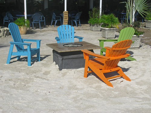 Colorful chairs at the Bilmar Resort Hotel on Treasure Island Beach.