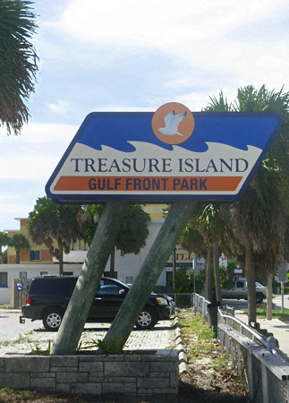 The Treasure Island Beachtrail begins at Gulf Front Park; 104th Avenue and Gulf Blvd.
