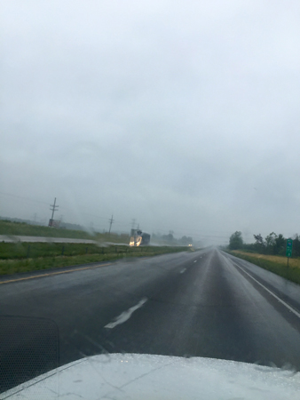 Rainy and dangerous heading into Wentzville, MO.