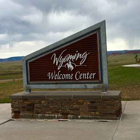 Welcome Center in Sundance WY.