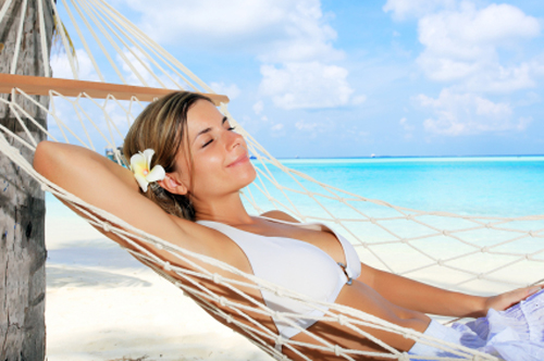 Total relaxation is another benefit of the beach.