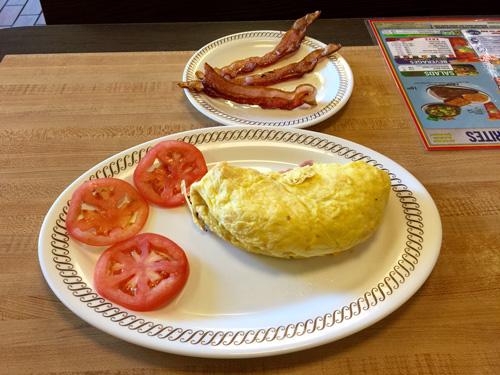I had an omelet for dinner in Acworth GA.