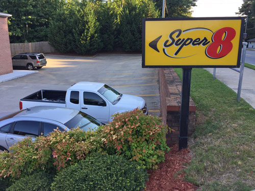 My first stop after Day 1. Acworth GA Super 8 Motel.